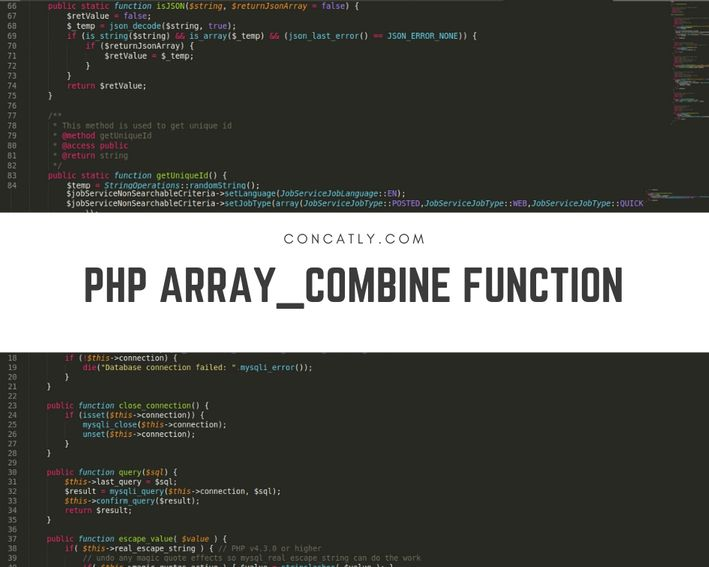 PHP array_combine Function   Combine Two Arrays - Concatly