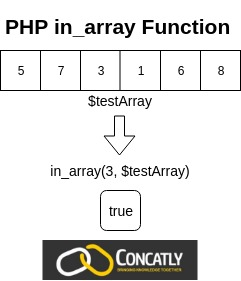 PHP in_array Function Diagram Concatly
