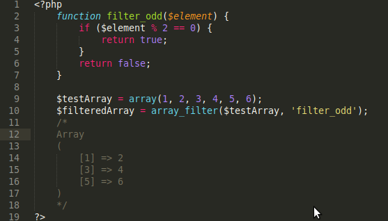 PHP array_filter function